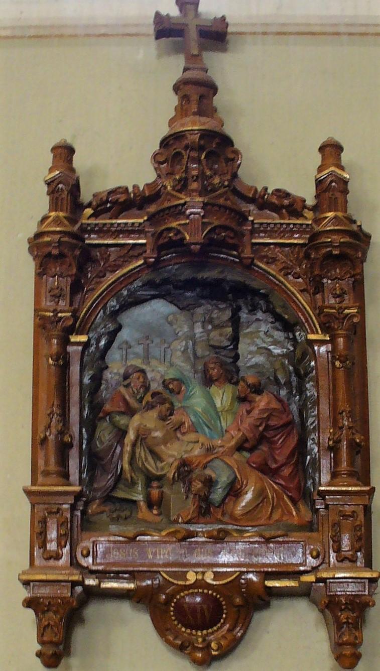 Jesus wird in das Grab gelegt
