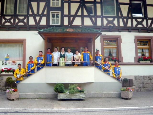 """Beim Paracycling Europacup im Juni 2012 war die kolumbianische Equipe zu Gast im """"Rössle"""""""