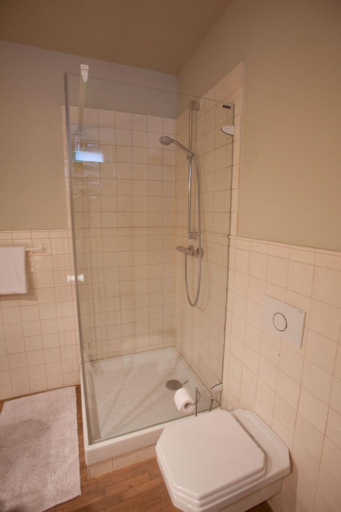 LA VILLA , B&B Brussels ,salle de douche de la chambre Jardin