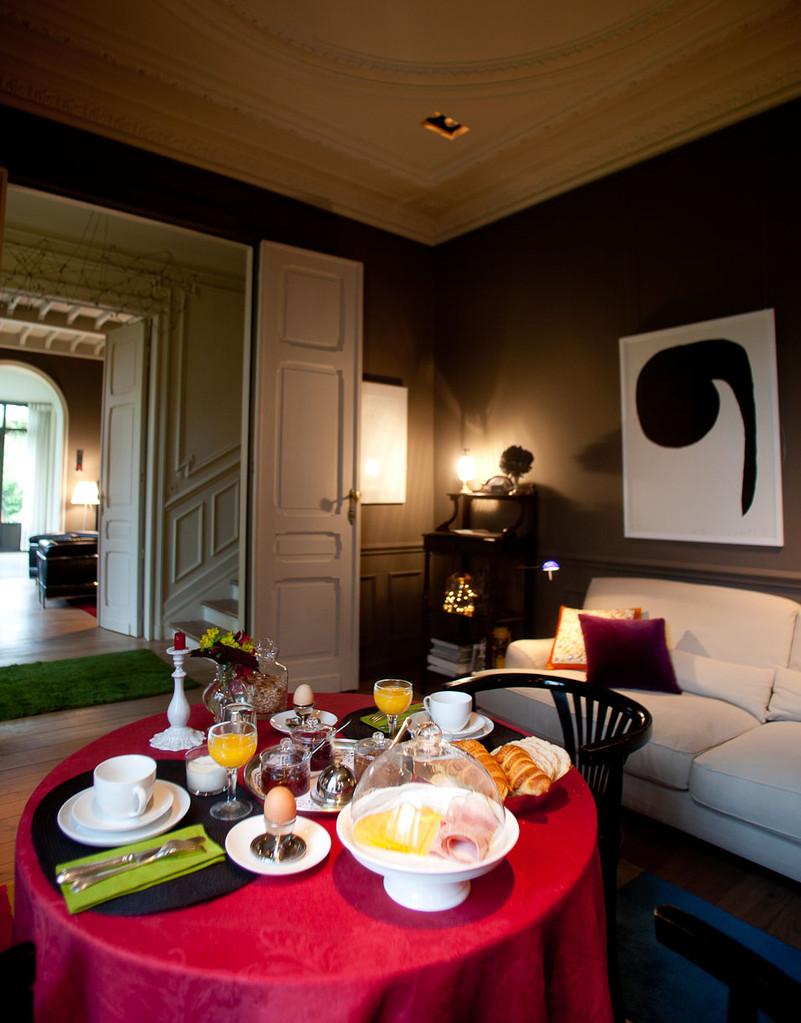 La Villa Maison d'hôte de charme à Bruxelles. petit-déjeuner. © photos : Gregory Halliday 2013