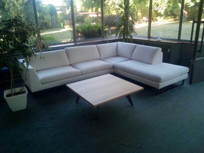 ARTMETA / Table basse Amazone  100 x 100 x H 35 cm / Chêne naturel + Gris sablé