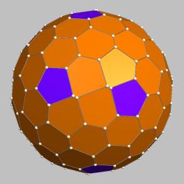 Ein Beispiel: ein möglichst rundes Polyeder mit 100 Fazetten