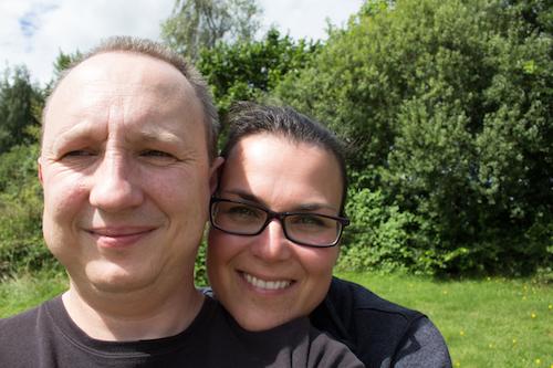 Richard & Gabi erfreuen sich am tollen Wetter.