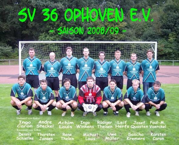 SV 1936 Ophoven I - Saison 2008/2009