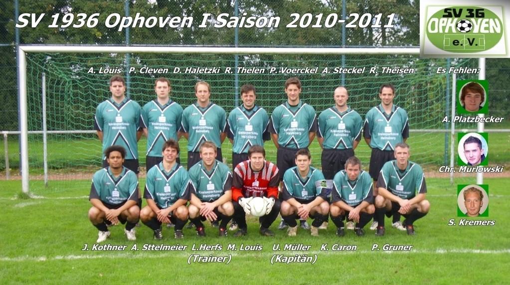 SV Ophoven I - Saison 2010/2011