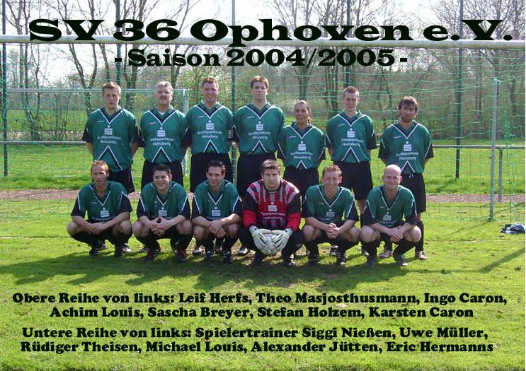 SV 1936 Ophoven I - Saison 2004/2005