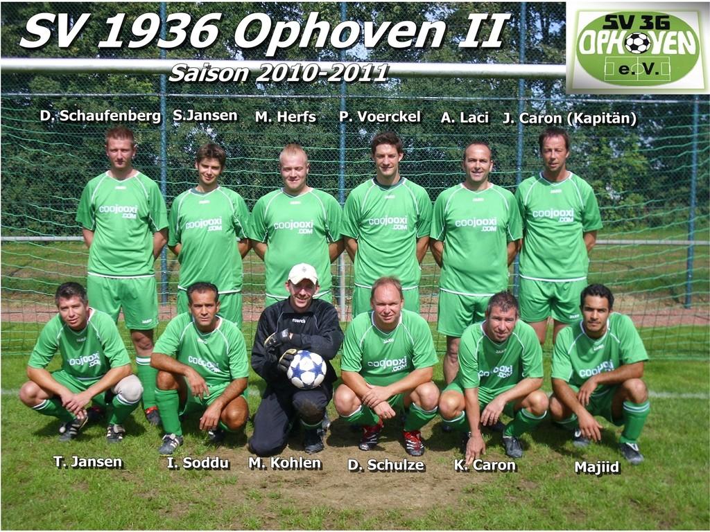 SV 1936 Ophoven II - Saison 2010/2011