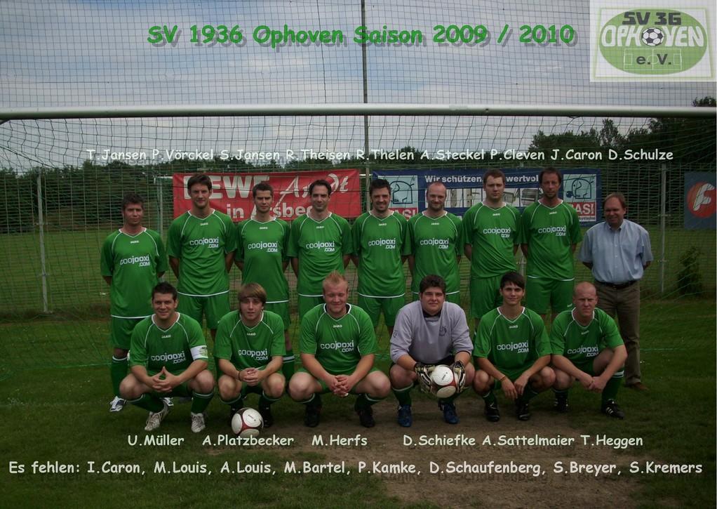 SV 1936 Ophoven I - Saison 2009/2010