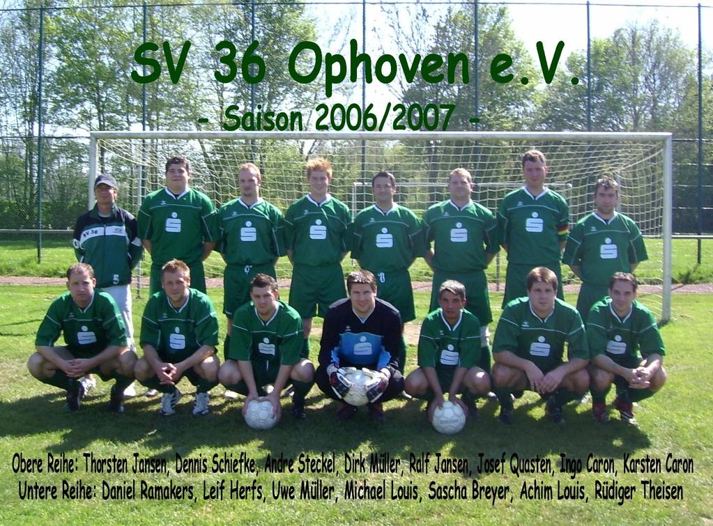 SV 1936 Ophoven I - Saison 2006/2007