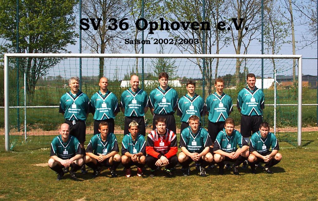 SV 1936 Ophoven I - Saison 2002/2003