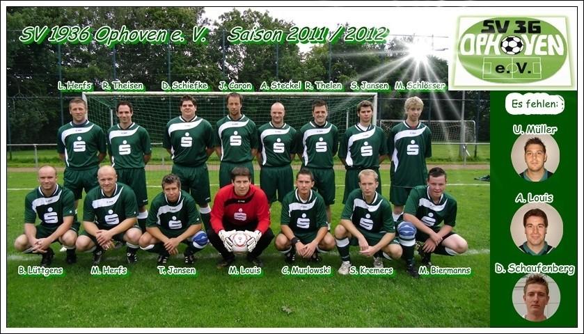 SV 1936 Ophoven I - Saison 2011/2012