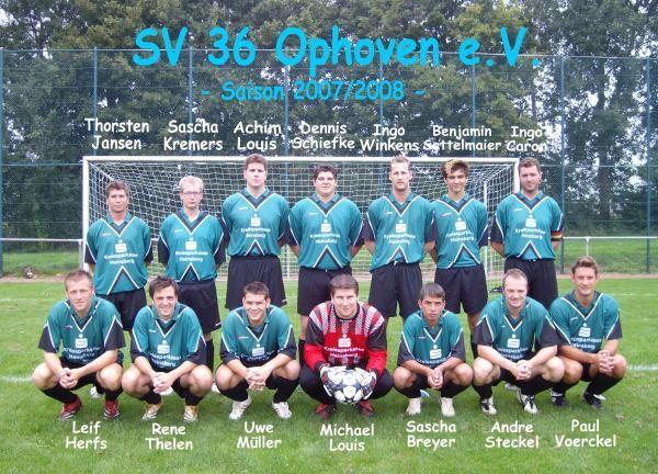SV 1936 Ophoven I - Saison 2007/2008