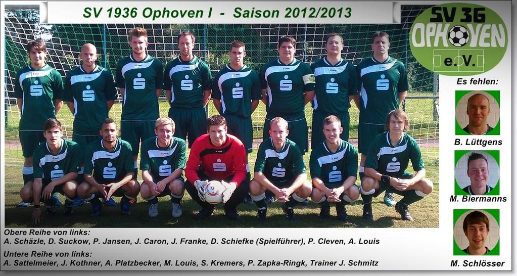 SV 1936 Ophoven I - Saison 2012/2013