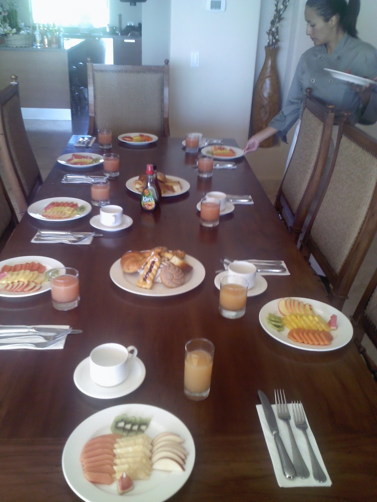Breakfast is ready, bon appetit!!!!