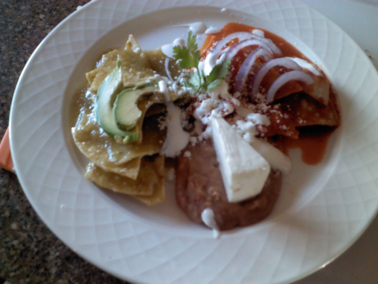 Try our delicious Mexican Chilaquiles