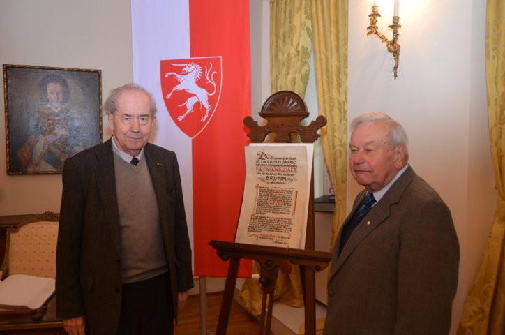 Der langjährige BRUNA-Bundesvorsitzende, Herr Karl Walter Ziegler und der Vorsitzende des Kreisverbandes Schorndorf, Herr Erich Wenzel