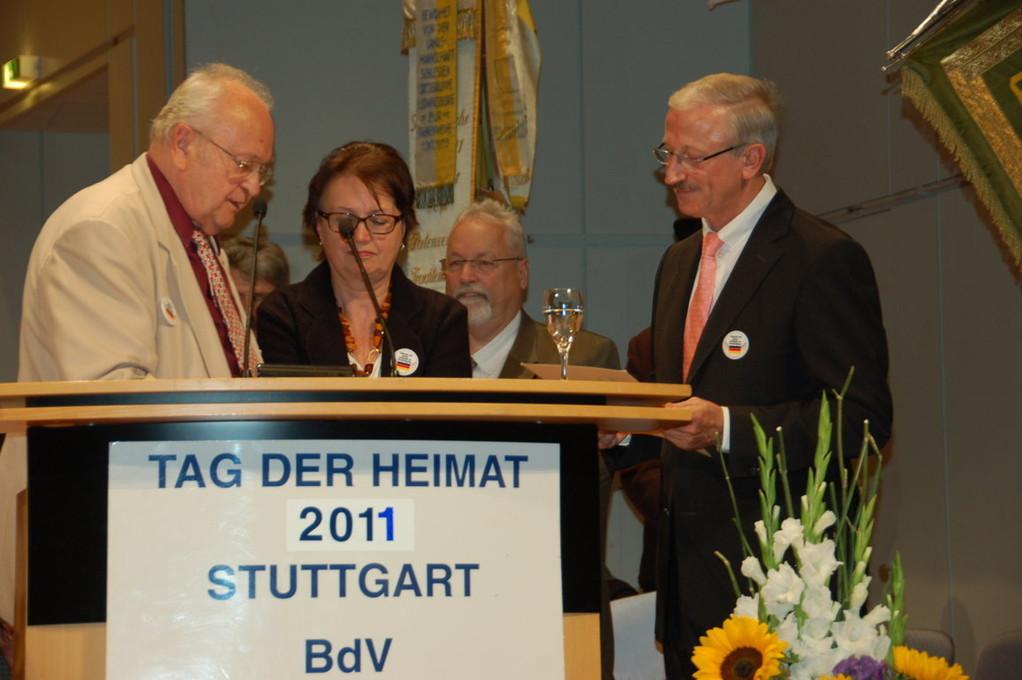 Ehrung des Ministerialdirigenten Heribert Hellstern