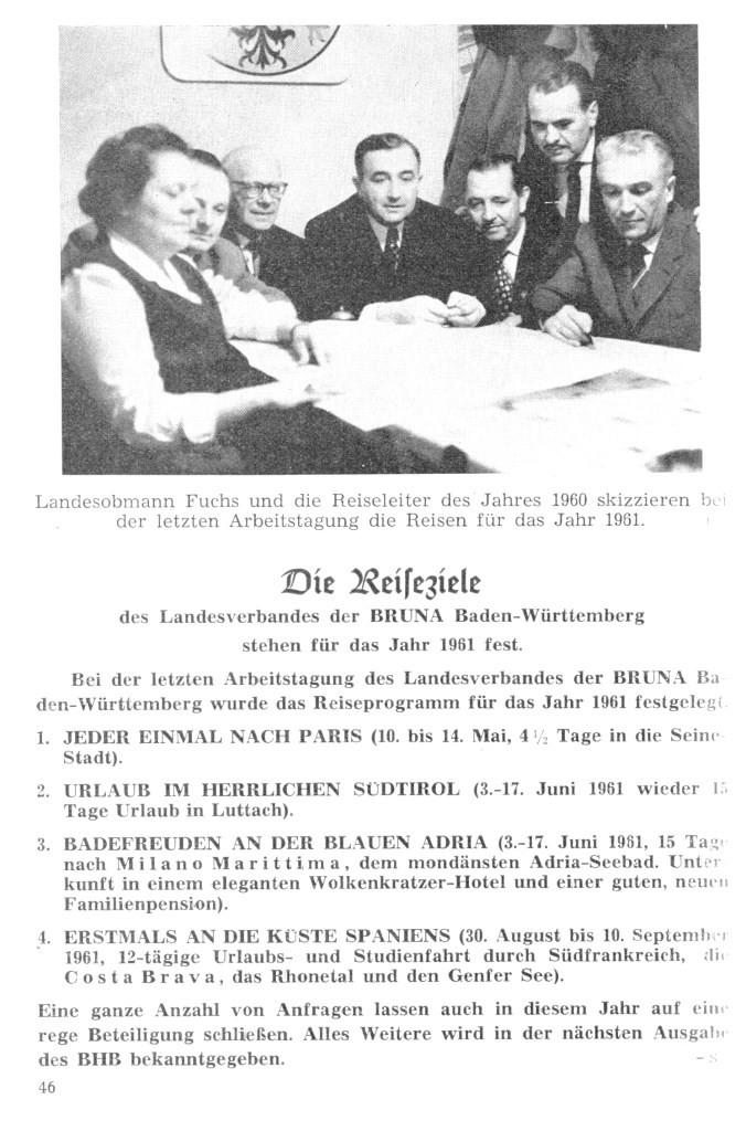 REiseplanung 1961