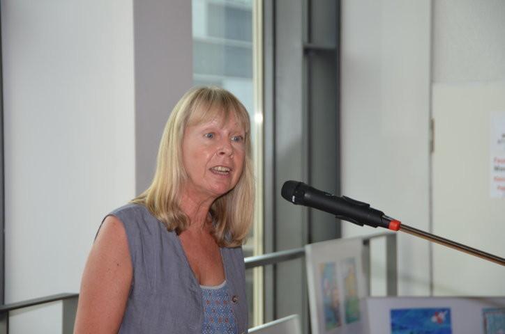 Frau Ulrike Brittinger, die Direktorin des Staatlichen Schulamts Stuttgart und Schirmherrin des Wettbewerbs