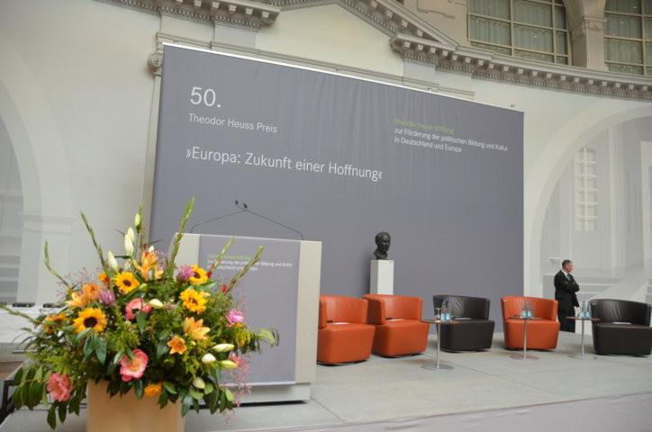 Verleihung des 50. Theodor Heuss Preises am 16. Mai 2015