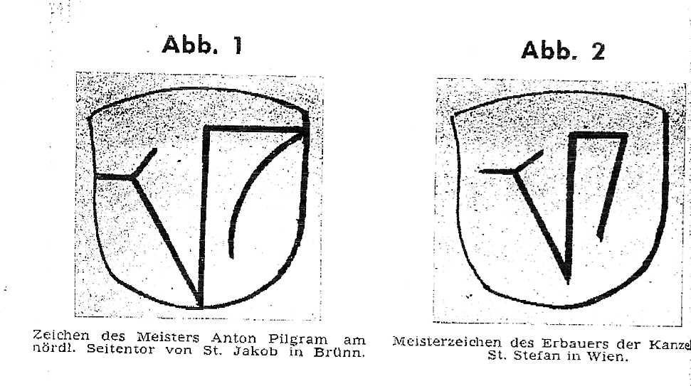 Pilgrams Steinmetzzeichen