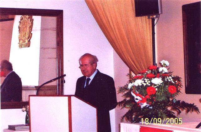 Der Bundesvorsitzende der BRUNA, Karl Walter Ziegler, eröffnet das Symposium zum Mährischen Ausgleich un
