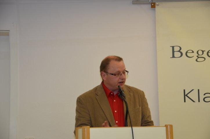 Herr Carsten Eichenberger. Mitglied des Vorbereitungsteams