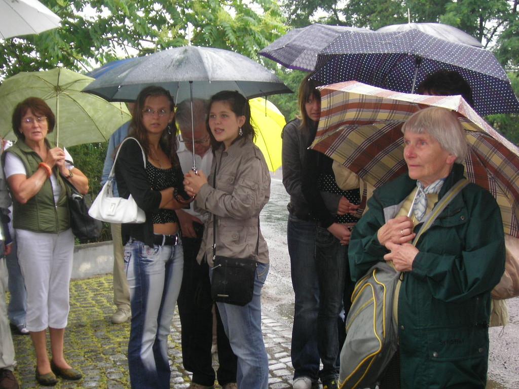 aber auch in Pohrlitz regnet es stark