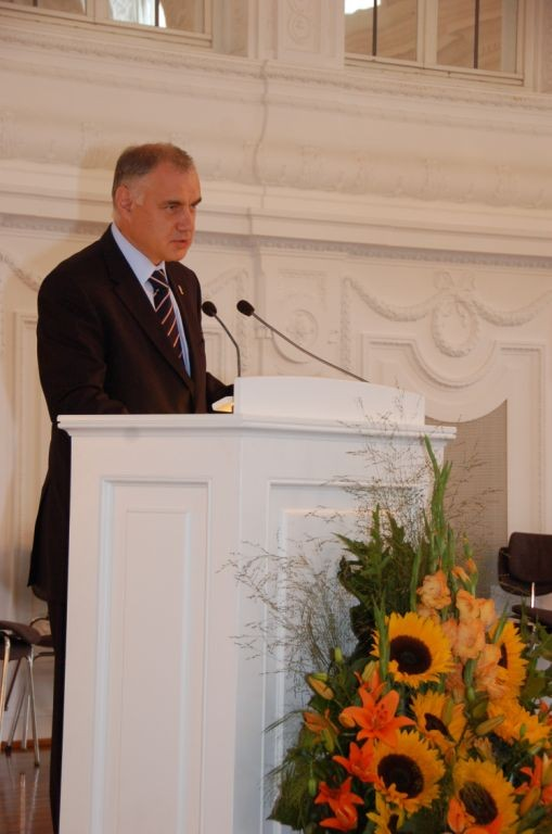Begrüßungswort Dr. Daniel Rychnovský, der 1. Bürgermeister der Stadt Brünn
