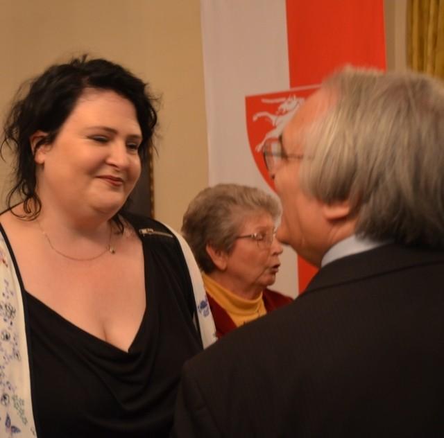 Frau Katharina Aubele organisierte den Empfang und betreut liebevoll die Gäste