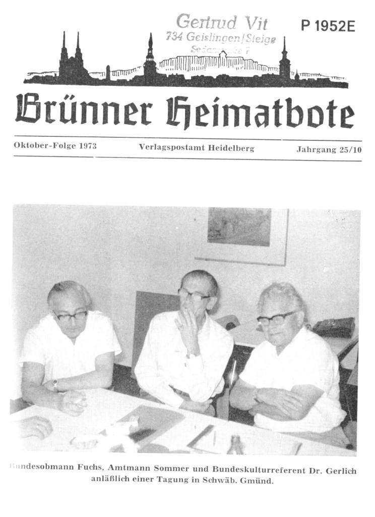1973 Besprechung Gmünd