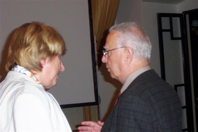 Hanna Zakhari und Dipl.-Ing. Pavel Fried, der Vorsitzende der Israelitischen Gemeinde in Brünn