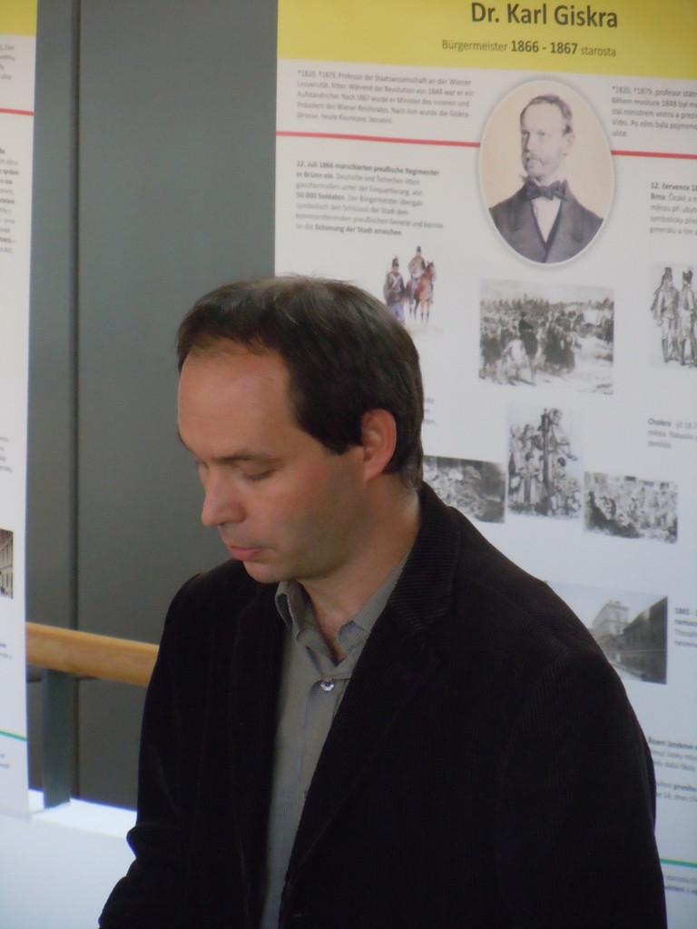Jan Rybnikář, der Leiter der Österreichischen Bibliothek in Brünn