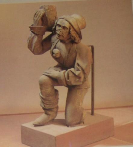 Ehemaliges Kanzelmännchen Rottweil im Lapidarium - auch Antlitz Anton Pilgrams ?