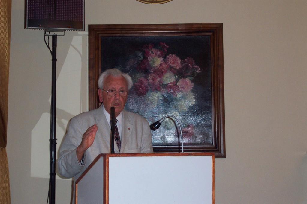 Dr. Erich Pillwein berichtet über die Brünner Bürgermeister im 19.Jahrhundert