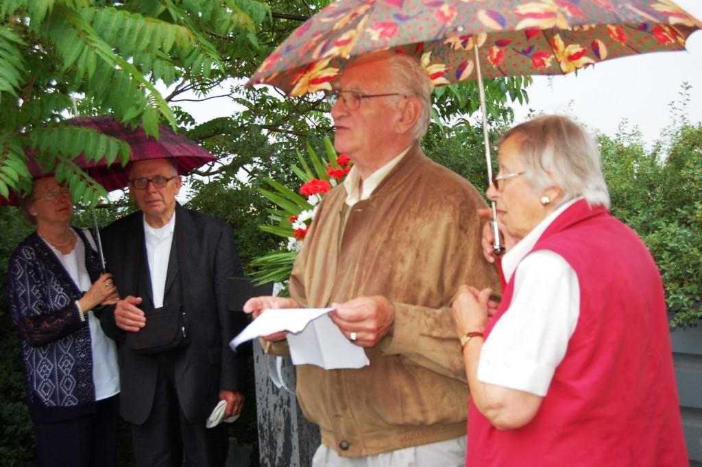 Herr Klimesch hält in Vertretung des Bundesvorsitzenden eine kleine Gedenkansprache