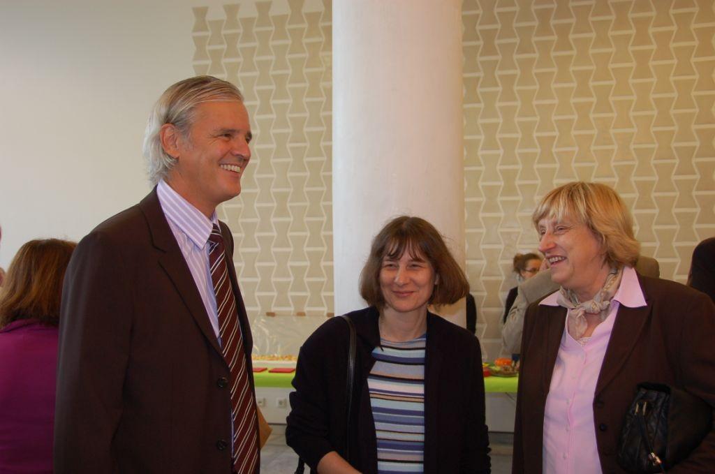 """Dr. Konstantin Merz und Frau Sabine Zertani, Merz-.Schule Stuttgart , Teilnehmer am WEttbewereb """"Meine Stadt - Deine Stadt"""""""