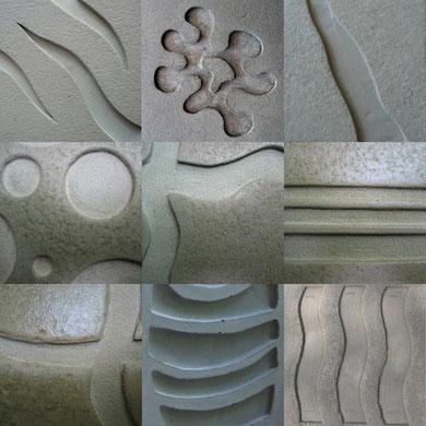 Echantillons de reliefs