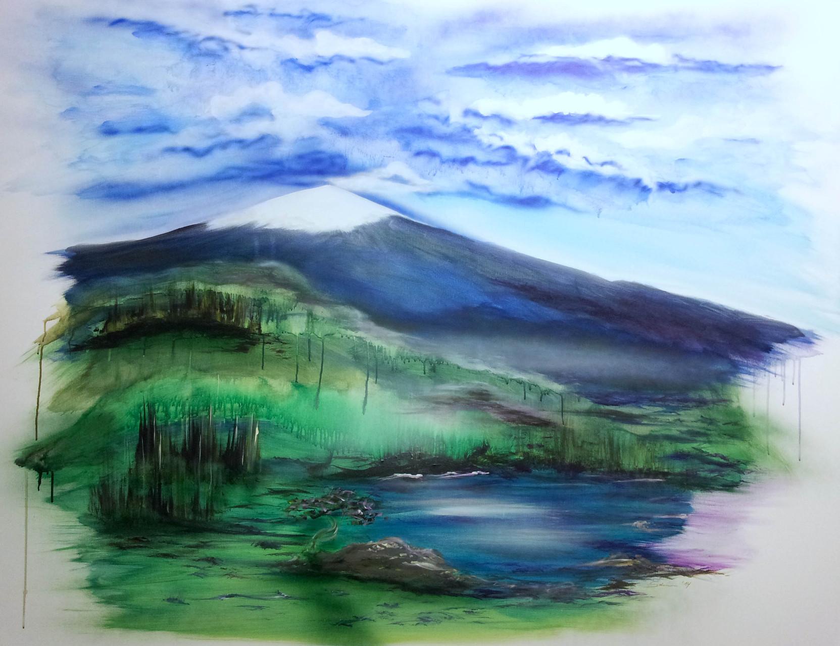 """""""Aethna""""  Leinwand  150 x 120 cm"""