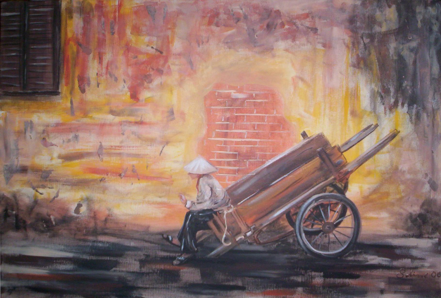 """""""Pause"""" Leinwand 60 x 40 cm"""