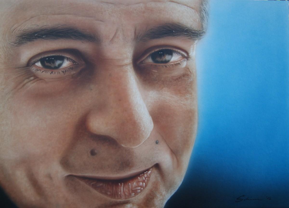 """Achim"" Airbrushkarton ca. 50 x 37 cm"