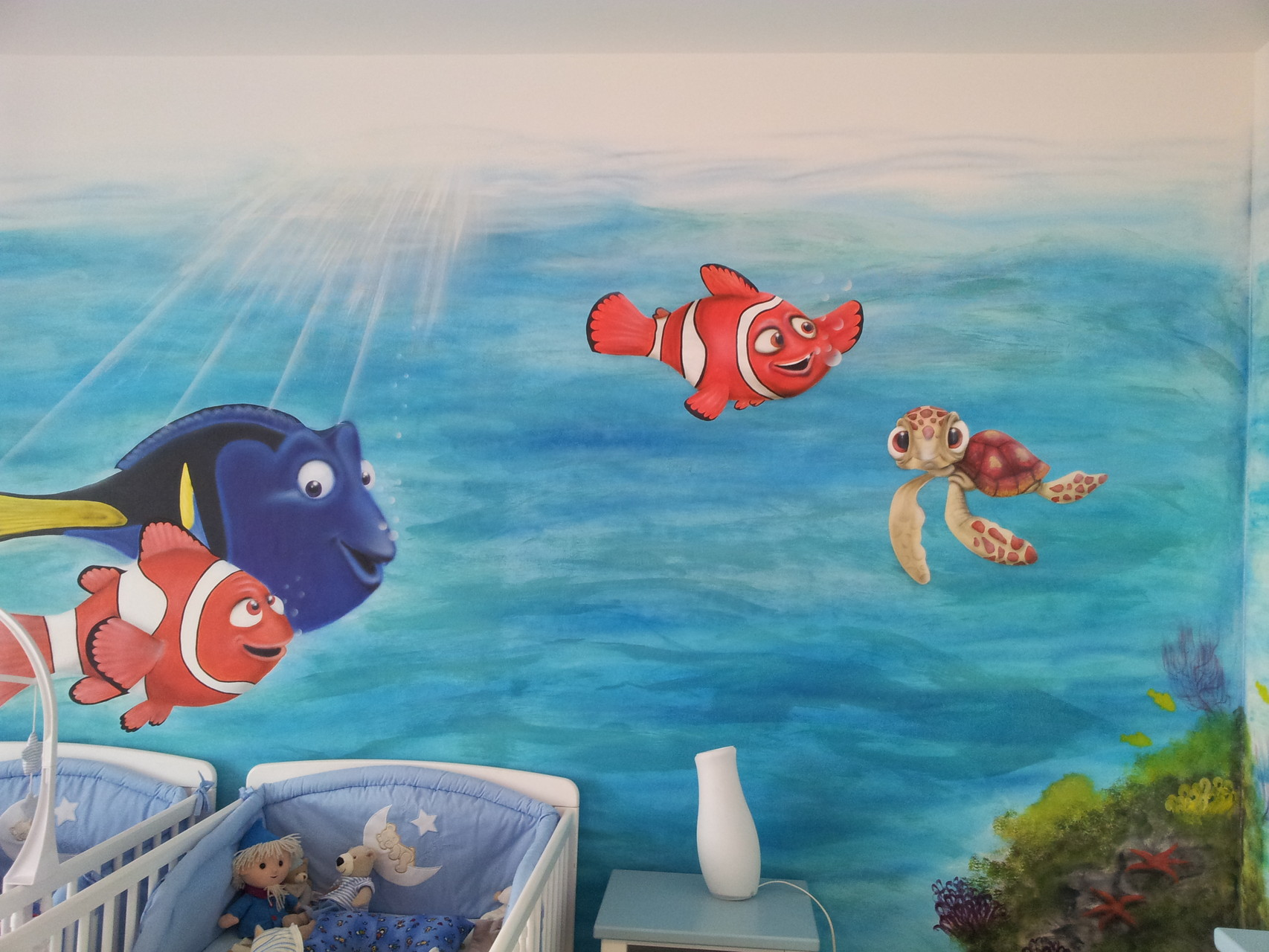 Nemo Landschaft im Kinderzimmer