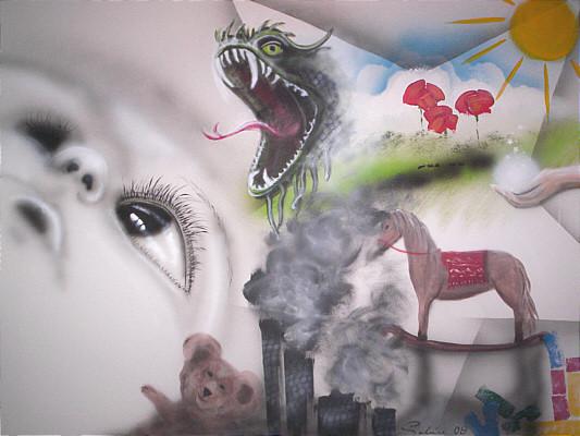 """Dream of a child"" Leinwand 80 x 60 cm"