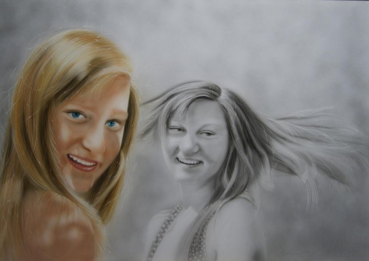 """""""Megan"""" Airbrushkarton ca. 70 x 100 cm"""