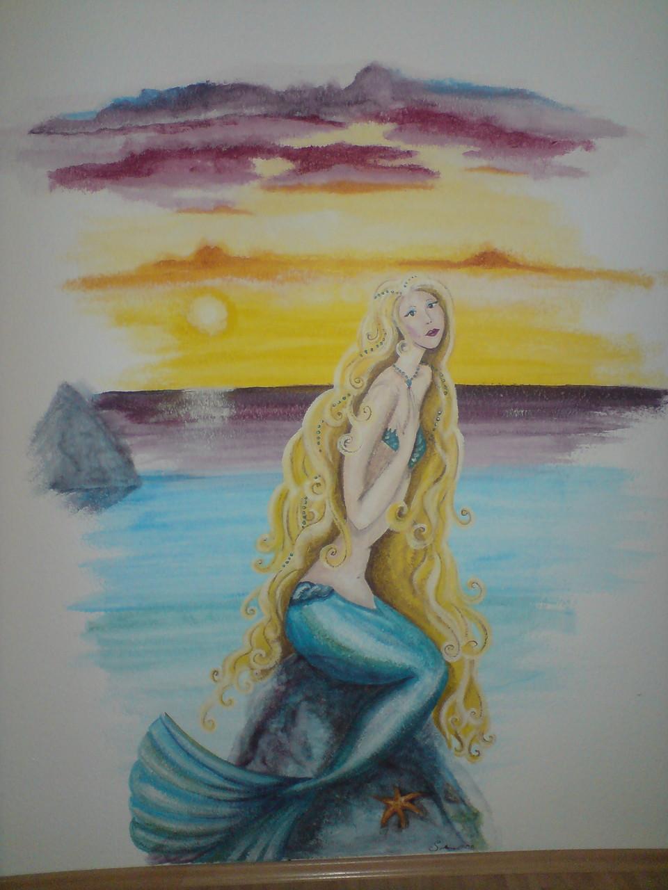 Meerjungfrau im Kinderzimmer