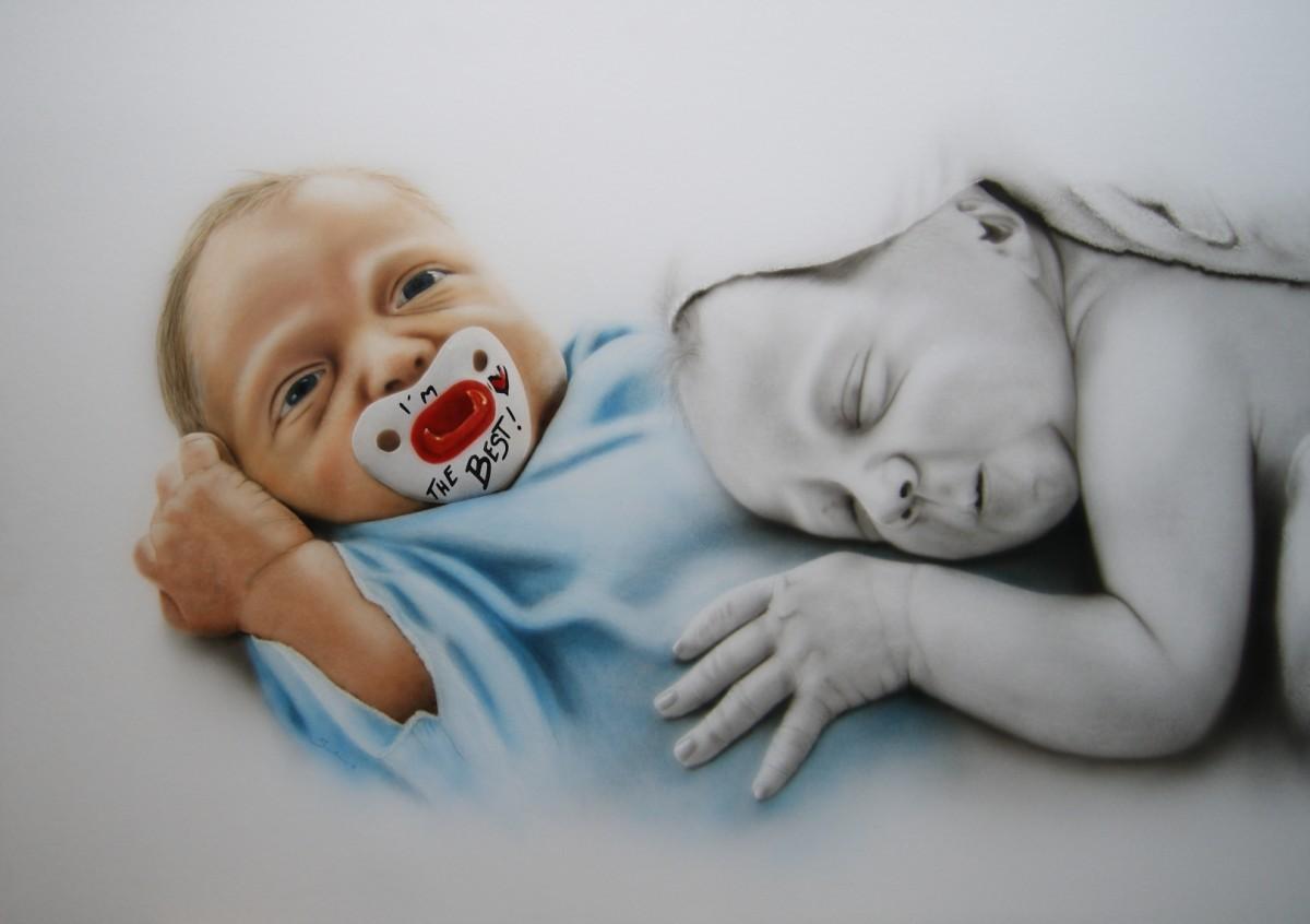 """Aileen"" Airbrushkarton ca. 100 x 70 cm"