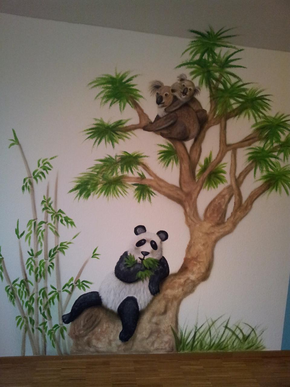 Koalabär und Pandabär vereint