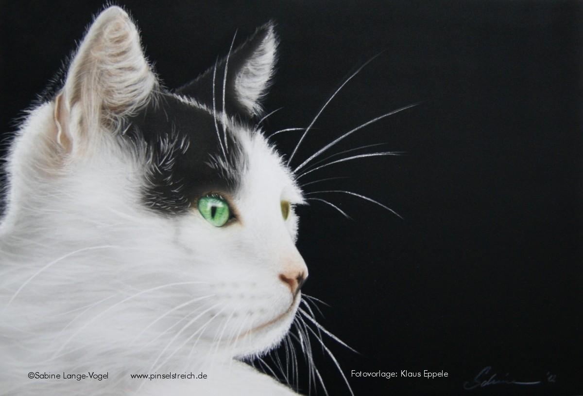 """Lissy"" Airbrushkarton ca. 36 x 51 cm Fotovorlage: Klaus Eppele"