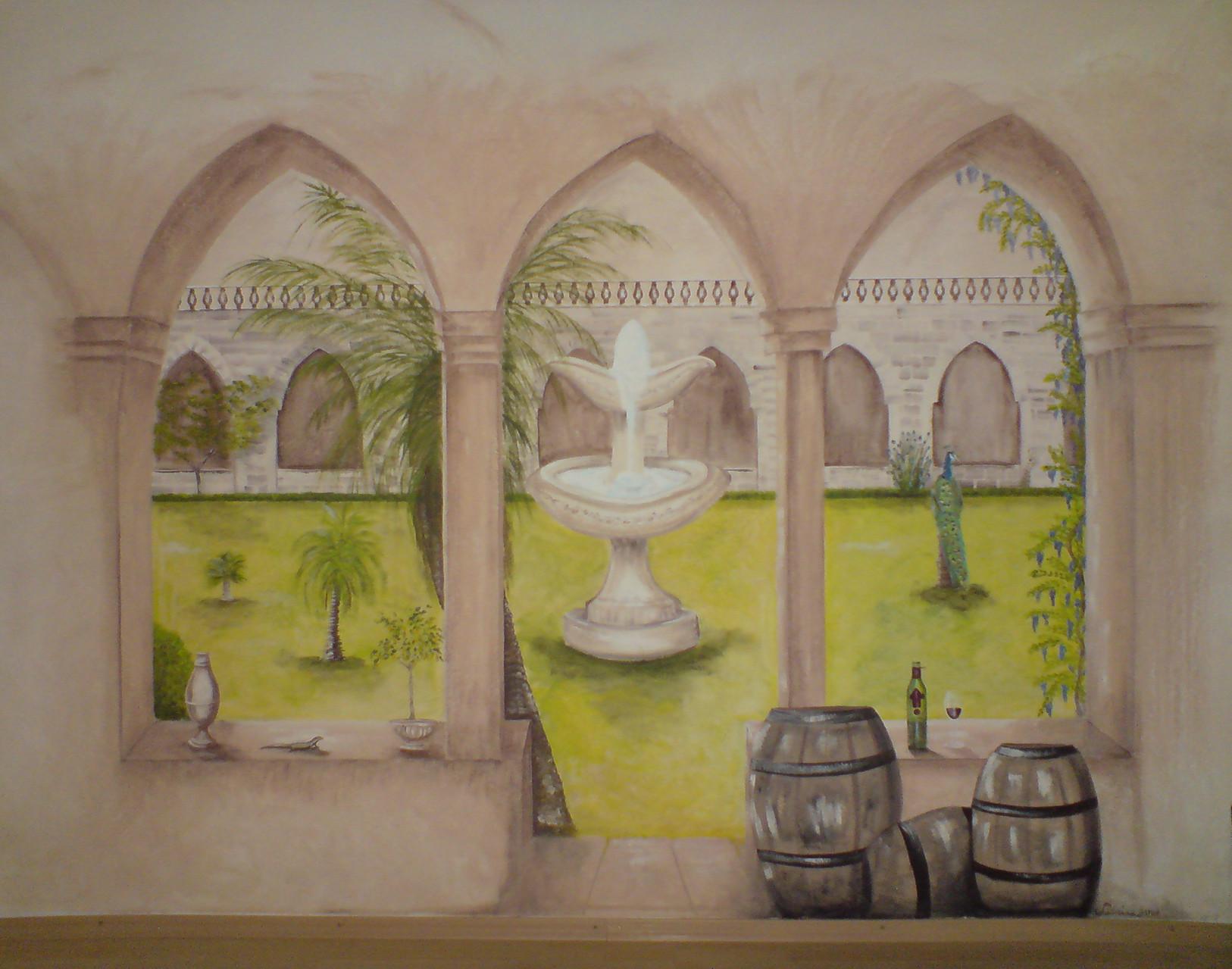 Ausblick im Weinproberaum