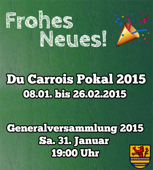 Frohes Neues! Aktuelles 2015
